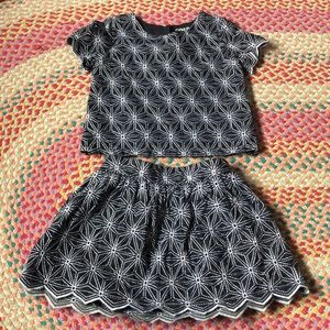 NWOT Genuine Kids Embroidered Two Piece Set